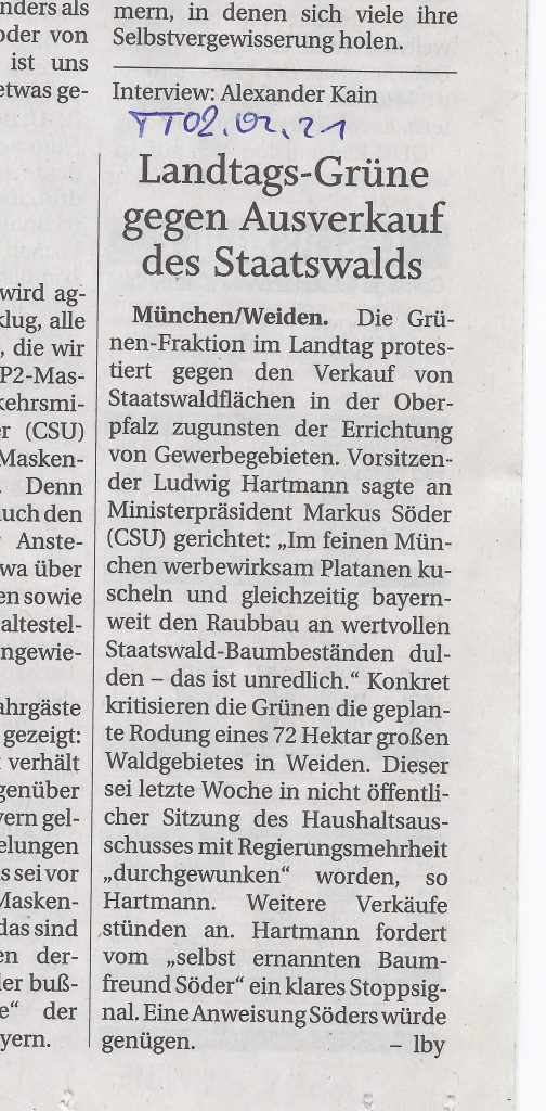 Artikel, Trostberger Tagblatte, 02.02.2021